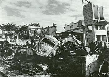 The neighborhood of El Chorrillo after the invasion